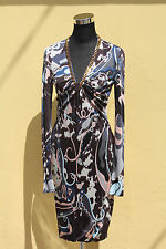 NWT EMILIO PUCCI PRINTED SILK DRESS-SIZE 42 IT
