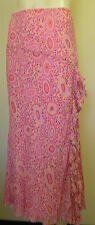 Country Classics very pretty pink skirt size M with side ruffle  Only worn once