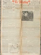 LE MATIN (21/12/1920) La France restera en Syrie - Phénomène boxeur Coulon