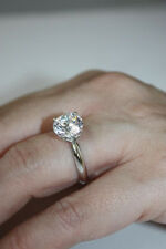 2.70 CT solitaire ROUND D VS2 DIAMOND ENGAGEMENT RING 14K WHITE GOLD MARRIED NIB