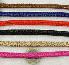 6 Pezzi da Cuoio Similpelle 6mm A207 Bigiotteria Leder Leather Cuir Perle Beads