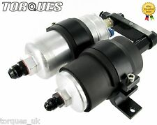 Single Bosch 044 Fuel Pump and Filter Assembly (AN-6, AN-8 or AN-10) In BLACK