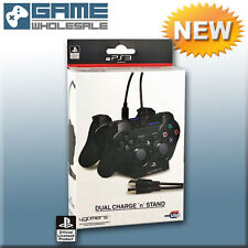 Official PS3 Dual Twin USB Charge N Stand Charging Cable Dock For Playstation 3