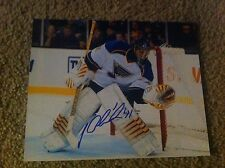 Jaroslav Halak Autographed 8x10 Photo Montreal Canadians St.Louis Blues Slovak