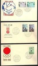 ICELAND 1963 THREE FDC'S INCLUDING FREEDOM FROM HUNGER & TOKYO OLYMPICS