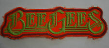 BEE GEES Original Vintage 1970`s Large Embroidered Patch/écusson/aufnäher