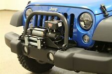 Rock Hard 4x4 Shorty Grille Guard for Winch Mount Plate 07-15 Jeep Wrangler JK