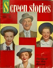 1950 Screen Stories Magazine: Myrna Loy & Clifton Webb - Cheaper by the Dozen