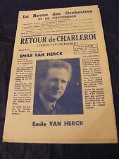 Partition Retour de Charleroi Terug van Charleroi Emile Van Herck