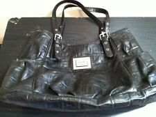 Nicole Miller Brand Women's Black Faux Leather Handbag
