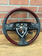 2006 LEXUS GS300 LEATHER STEERING WHEEL REDDISH WOOD BLACK LEATHER