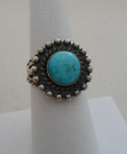 Vintage Southwest Sterling Silver Turquoise Arrow Shank Ring   480106