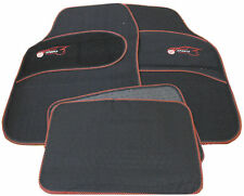 Opel Vauxhall Vectra Universal RED Trim Black Carpet Cloth Car Mats Set of 4