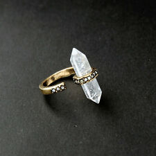 Atlas Crystal Rings Nature Gem Stone Dynamic Design Rock Crystal Adjusted Cuff