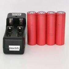 4PCS Sanyo 3.7V 2600mAh UR18650ZY li-ion battery + Charger