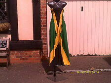Handmade Jamaica National Flag colour Tube Maxi  dress.......One Size, Regular