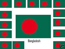 Assortiment lot de10 autocollants Vinyle stickers drapeau Bangladesh