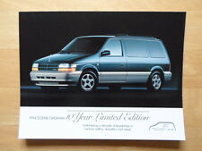 DODGE Caravan orig 1994 10 Year Limited Edition USA Mkt sales brochure
