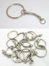 10pcs Alloy Keyring Key Split Ring With Snake Chain Nickel Plate Keychain Gift