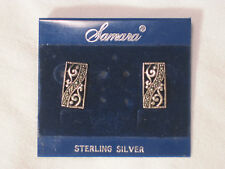 Samara Sterling Silver earrings jewelery fashion earring pair ornate detail .925