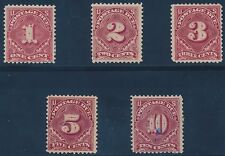 #J38-J42 F-VF OG LH // HR SHORT SET 1895-97 POSTAGE DUE CV $347 BT2608