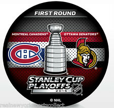 2015 OTTAWA SENATORS VS MONTREAL CANADIENS STANLEY CUP PLAYOFFS SOUVENIR PUCK