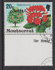 MONTSERRAT - 1980 O.H.M.S. 20c OVPT. DOUBLE FINE USED SG.O20a (REF.D181)