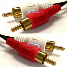 3m Twin RED WHITE 2 x RCA PHONO Audio LEFT RIGHT Cable Male to Male Lead GOLD
