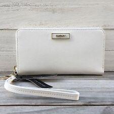 NWT DKNY Genuine Leather White Wallet Wristlet Original Price: $95