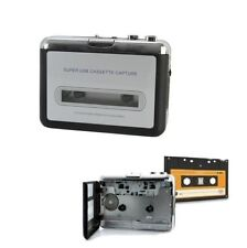 Portable USB Audio Cassette Tape Converter to MP3 CD Player PC Silver color