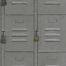 Rasch casier en métal armoire motif papier peint texturé faux effet rouleau