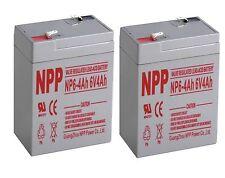 NPP 6V 4 Amp 4Ah 4.5Ah SLA Battery For Deer Game Feeder Mojo Duck / Pack 2
