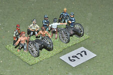 25mm american civil war 2 guns & crew (6977) metal painted