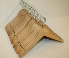 "Child Baby Natural Wooden 12"" Clothes Hangers Lot 23"