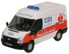 Oxford Diecast 76ft008 Ford Transit Van Swb medio NHS de donantes de sangre van 1:76
