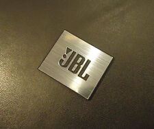 JBL Logo Emblem Badge brushed aluminum adhesive 28 x 23 mm [239c]
