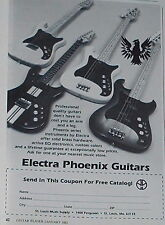 1982 Electra Phoenix electric guitars and basses print Ad