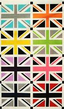 Union Jack Gray British Flag England Riley Blake Designs Cotton Fabric Panel