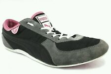 PUMA WOMEN'S Suede BLACK/GRAY/PINK Satin FASHION SNEAKERS US 9.5 UK 7 EUR 40.5