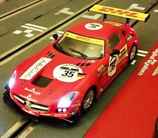 "NEW SCX DIGITAL SLS GT3 ""DHL"" #35 - Awesome LIGHTS - RK42 - With Display Case"