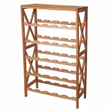 Lavish Home Classic Rustic Wood 25 Bottle Wine Rack