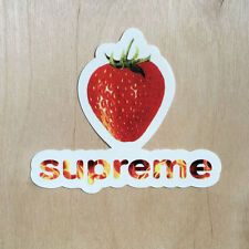 Supreme logo sticker vinyl decal skateboard laptop strawberry fire flames berry