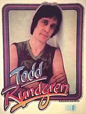 Vintage 1981 Todd Rundgren Iron On Transfer Super Rare Swing To The Right RARE!