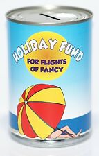 Holiday Fund Savings Tin - STANDARD - Money Box Saver Holds up to £260