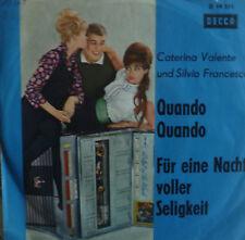 """7"""" 1962 VG++ CATERINA VALENTE & SILVIO FRANCESCO Quando"""