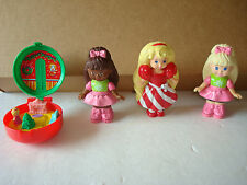 Totally Toy Holiday -Girls 4 Pc. Set Lot McDonalds Happy Meal 1993 POLLY POCKET