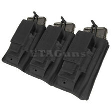 NEW CONDOR BLACK MA55 MOLLE Triple 5.56 .223 KANGAROO Mag Magazine Pouch Holster