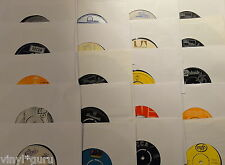 "Job Lot of 100 x 7"" Vinyl Single Records upcycling recycling art jukebox fillers"