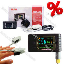 US Seller CMS60C Portable Pulse Oximeter OLED Spo2 Monitor Alarm/Software, FDA