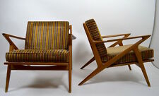 Pair Danish Mid Century Modern Poul Jensen Z Chairs for Selig